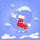 圣诞节红色殴打漫画人物概念蓝色 皇族释放例证