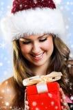 圣诞节纵向妇女 免版税库存图片