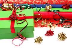 圣诞节纸张包裹 库存图片