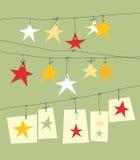 圣诞节纸星形 免版税库存图片