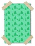 圣诞节纸模式卡住的带树 免版税库存图片