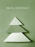圣诞节纸结构树 免版税库存照片