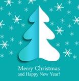 圣诞节纸结构树 免版税图库摄影