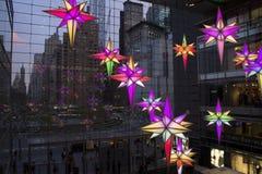 圣诞节纽约哥伦布圈子 免版税图库摄影