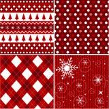 圣诞节织品仿造无缝的纹理 库存图片