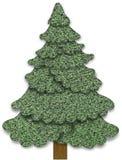 圣诞节织品结构树 库存照片