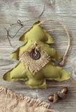 圣诞节织品结构树 库存图片