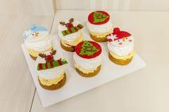 圣诞节结块与奶油 库存图片