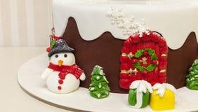 圣诞节结块与奶油 免版税库存照片