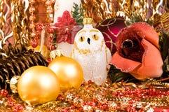 圣诞节结构树装饰 免版税图库摄影
