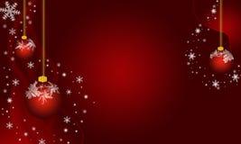 圣诞节结霜的装饰品 免版税库存照片