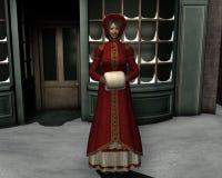 圣诞节维多利亚女王时代的著名人物 免版税库存照片