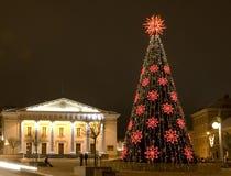 圣诞节维尔纽斯 免版税库存照片