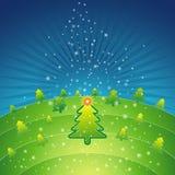 圣诞节绿色向量 免版税库存照片