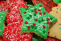 圣诞节绿色星形 库存照片