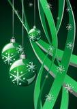 圣诞节绿色模板 向量例证