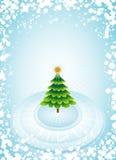 圣诞节绿色结构树向量 免版税库存图片