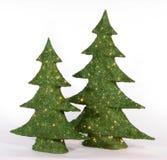 圣诞节绿色结构树 免版税库存照片