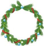 圣诞节绿色花圈 皇族释放例证