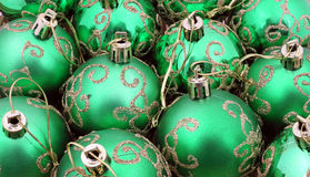 圣诞节绿色装饰品数 库存照片