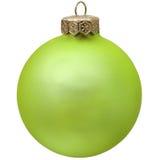 圣诞节绿色装饰品 免版税库存照片