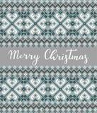 圣诞节编织的背景 库存例证