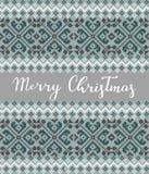 圣诞节编织的背景 向量例证