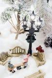 圣诞节缩样场面 免版税库存照片