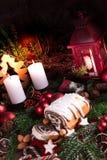 圣诞节罂粟种子蛋糕 免版税图库摄影