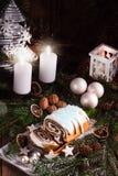 圣诞节罂粟种子蛋糕 库存照片
