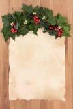 圣诞节羊皮纸信件 图库摄影