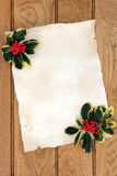 圣诞节羊皮纸信件 库存图片