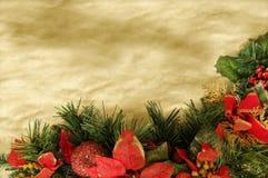 圣诞节羊皮纸背景 库存图片