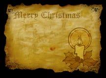 圣诞节羊皮纸 图库摄影