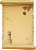 圣诞节羊皮纸 库存图片