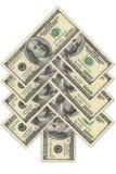 圣诞节美元做结构树 免版税图库摄影