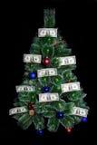 圣诞节美元货币结构树 免版税库存图片