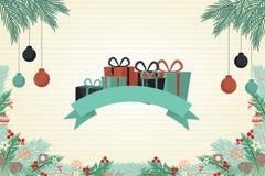 圣诞节美好的贺卡颜色 免版税库存图片