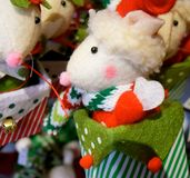 圣诞节老鼠 免版税库存图片