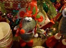 圣诞节老鼠 库存照片