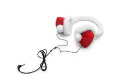 圣诞节耳机 免版税库存照片
