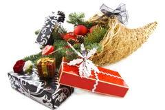 圣诞节聚宝盆豪华 库存照片