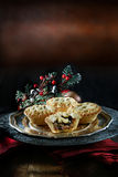 圣诞节肉馅饼 免版税库存图片
