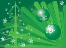 圣诞节背景。绿色。 图库摄影