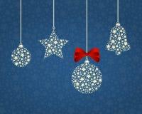 圣诞节背景例证 免版税库存图片
