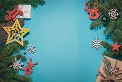 圣诞节背景构成,地方为 免版税图库摄影
