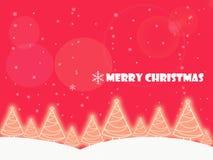 圣诞节背景树庭院 免版税库存图片