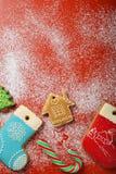 圣诞节背景用曲奇饼 库存照片
