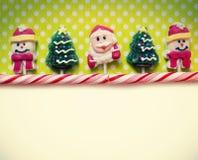 圣诞节背景用糖果 库存照片