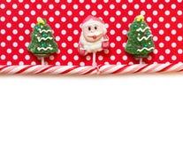 圣诞节背景用糖果 免版税库存图片